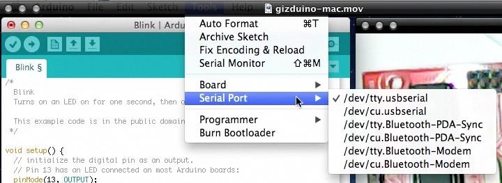 The gizDuino Fundamentals: Getting Started (Windows and Mac) (6/6)