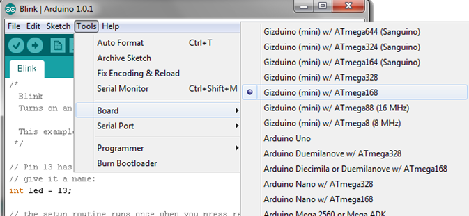 The gizDuino Fundamentals: Getting Started (Windows and Mac) (4/6)