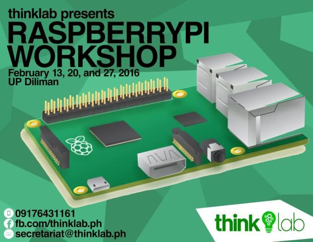 Thinklab Raspberry Pi 2 workshop poster