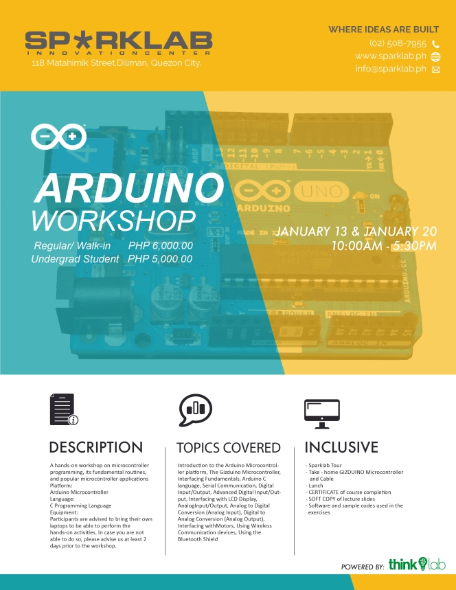Thinklab Gizduino EX Workshop 2018